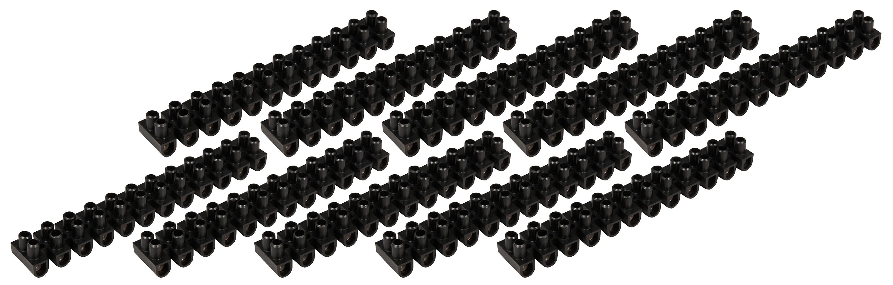 Lüsterklemme McPower, 12 Klemmen, 4,5mm², 5A, schwarz, 10er-Pack