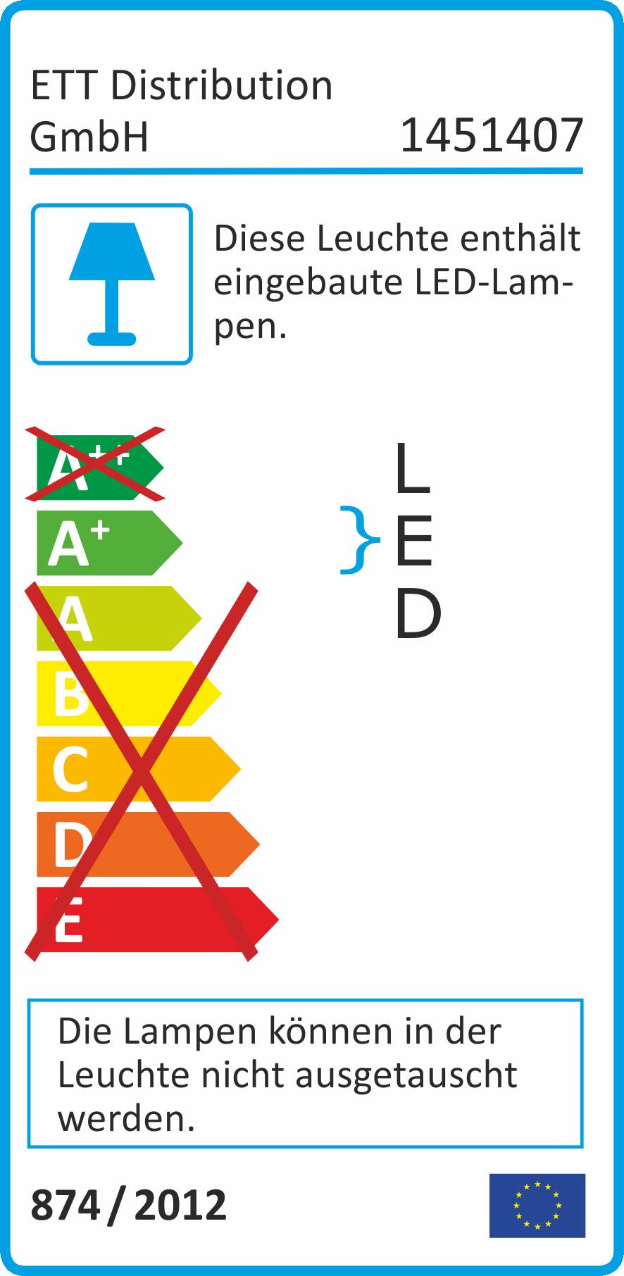 LED-Einbauleuchte McShine ''Fine'', 9 LEDs, weiß, 55mm-Ø, rund, Edelstahl