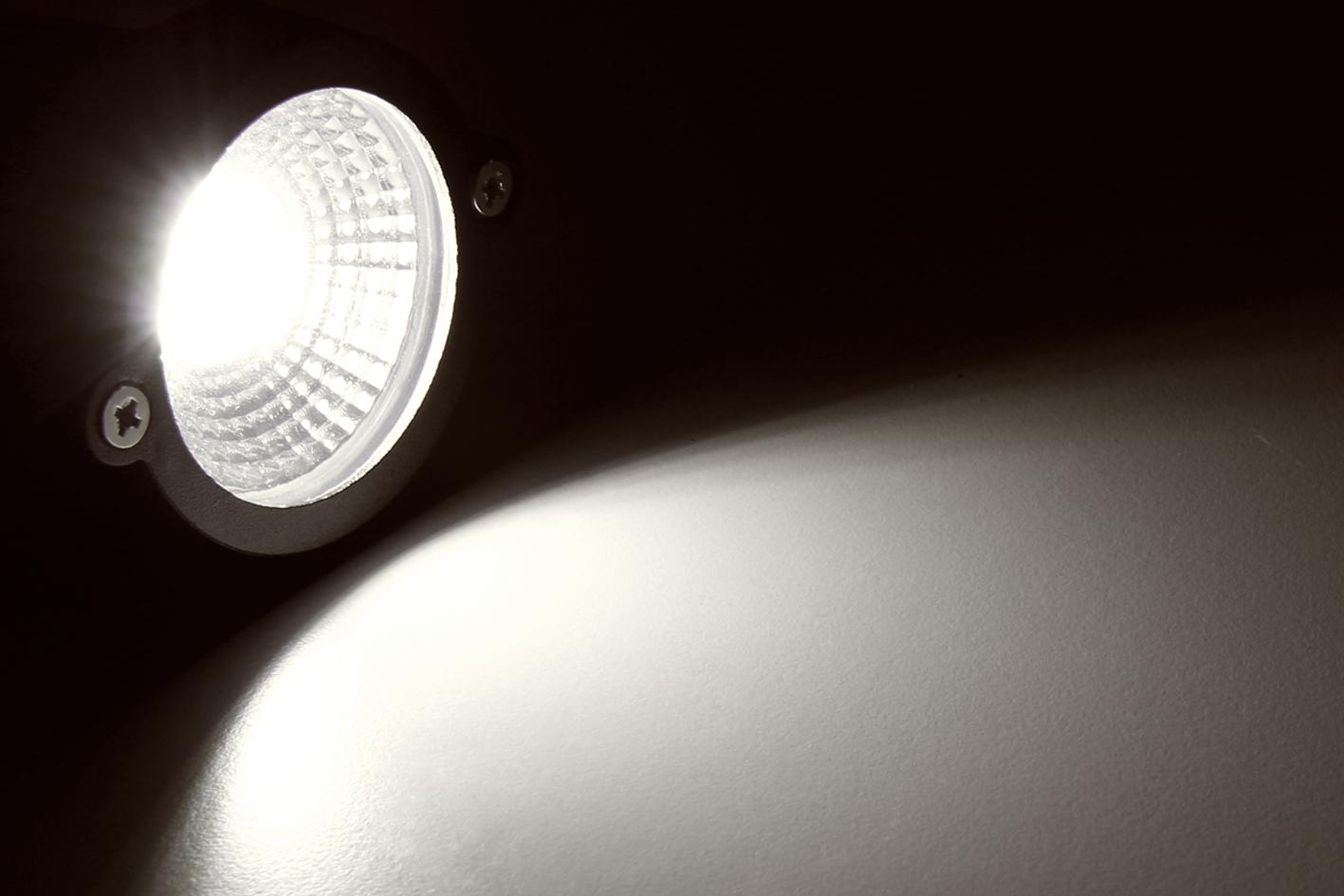LED-Gartenleuchte McShine ''GL-50W'', 5W, 500 lm, warmweiß, 1,5m Kabel, Erdspieß
