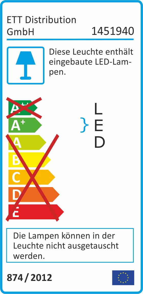 LED-Panel McShine ''LP-90IP'' 5W, 90mm-Ø, 400lm, IP54, 3000K, warmweiß
