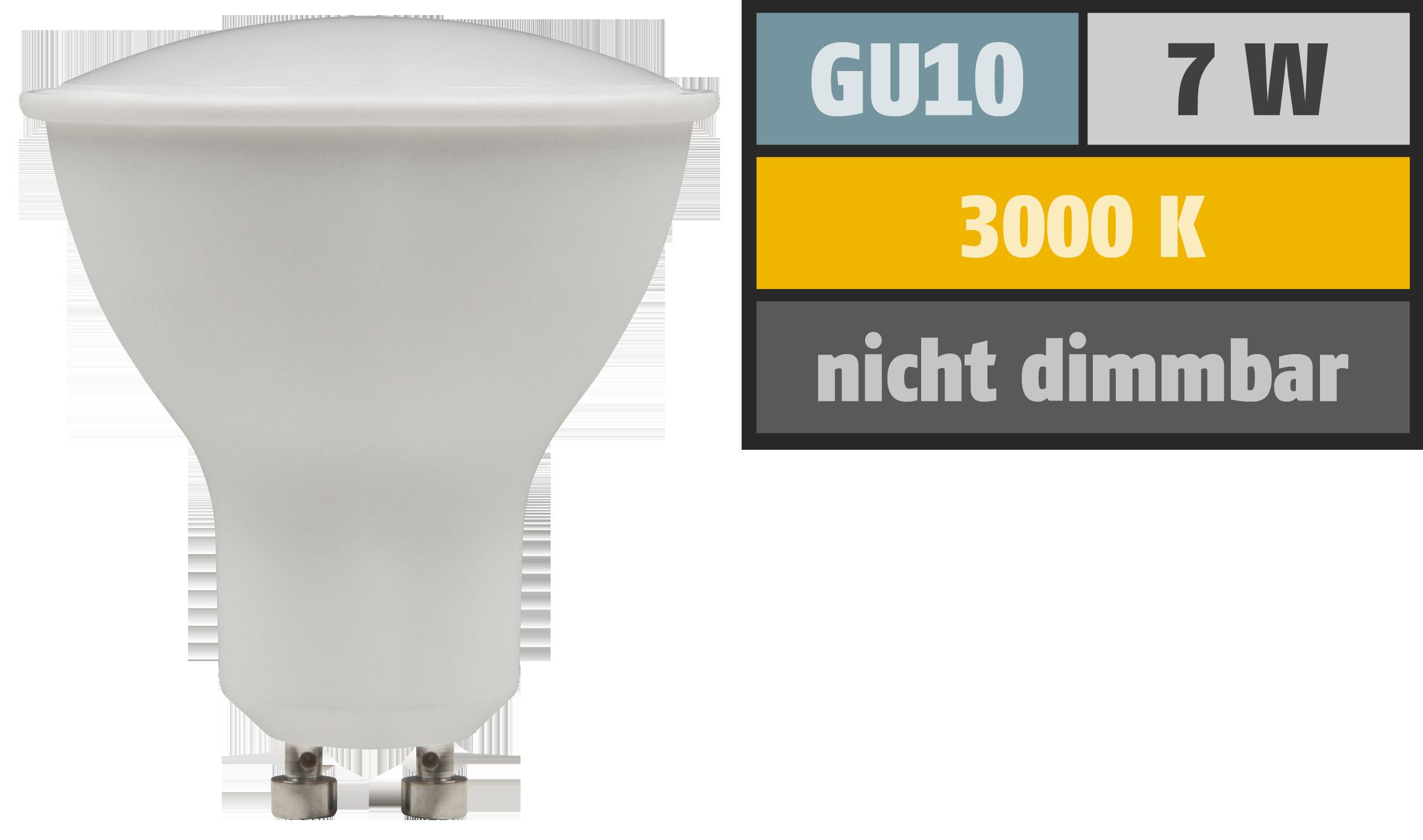 LED-Strahler McShine ''PV-70'' GU10, 7W, 540lm, 110°, 3000K, warmweiß