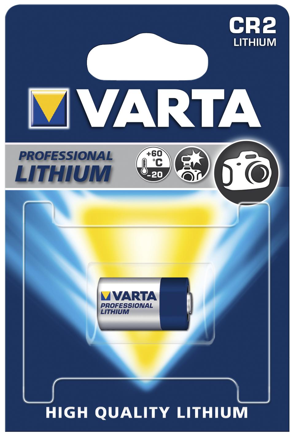 Lithium-Photobatterie VARTA CR 2, 1er-Blister