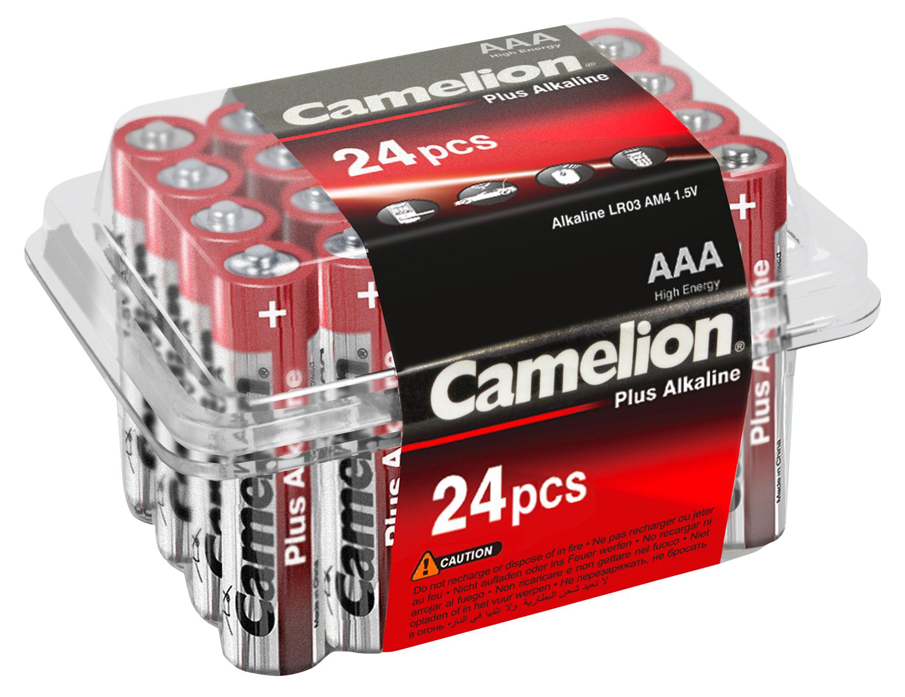 Micro-Batterie CAMELION ''Plus Alkaline'' 1,5 V, Typ AAA/LR03, 24er-Haushaltspack