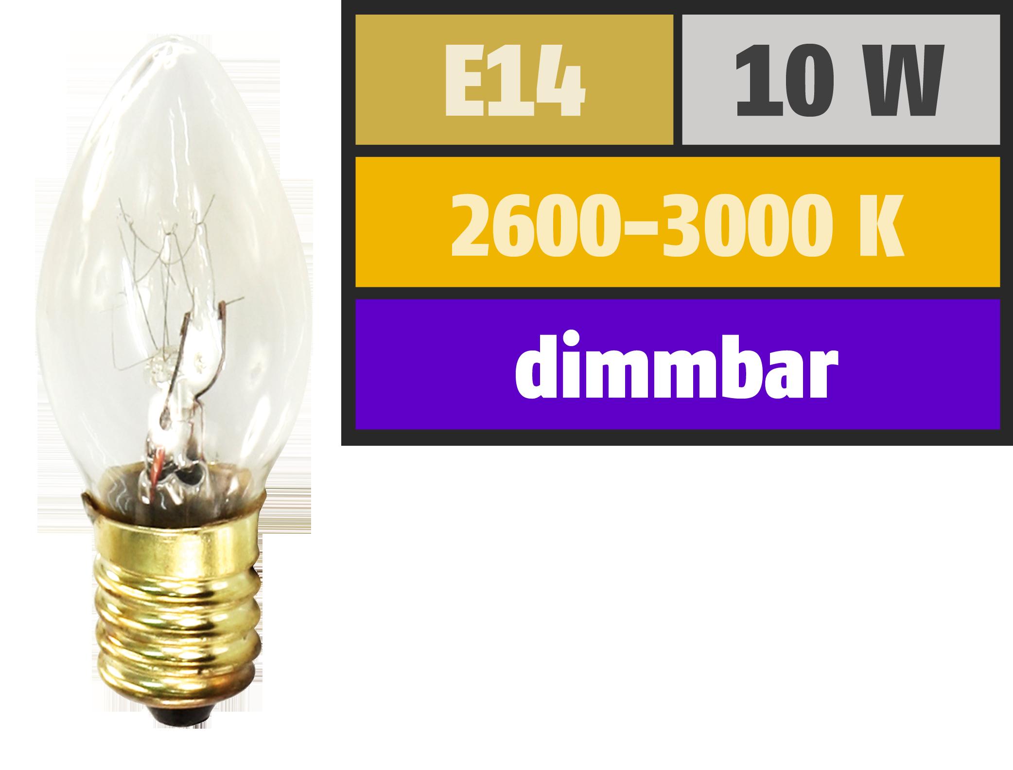 Mini-Kerzenlampe McShine, E14, 230V, 10W, klar