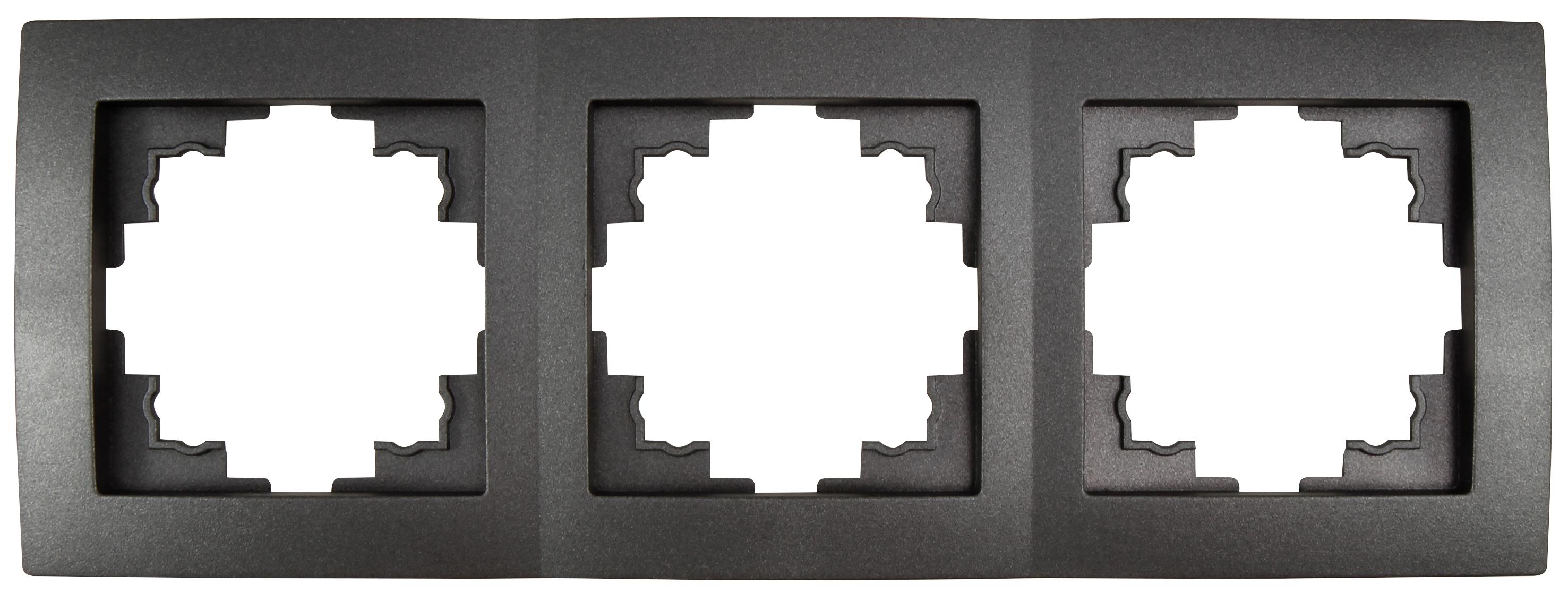 Rahmen McPower ''Flair'', 3-fach, anthrazit, 18er-Pack