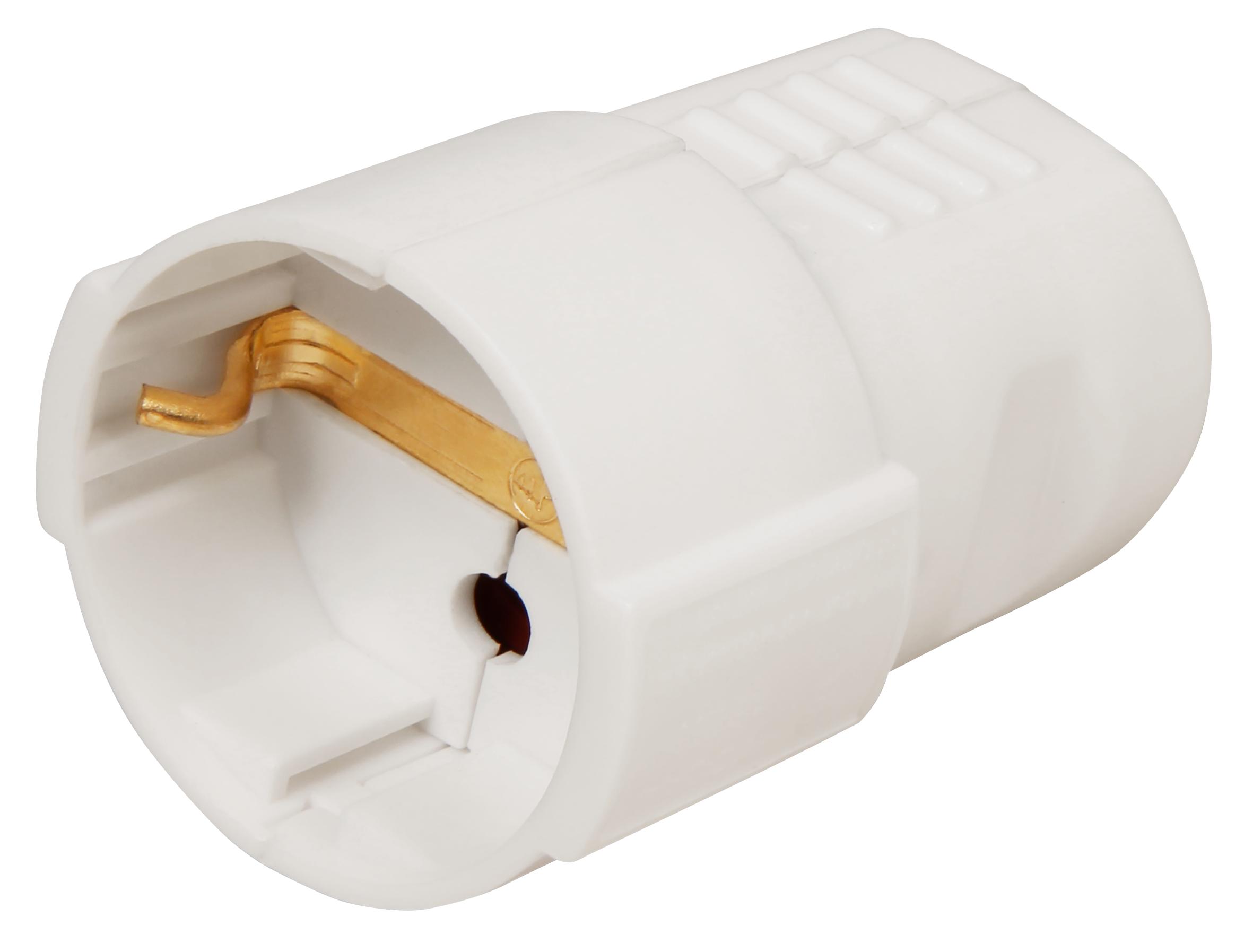 Schutzkontakt-Kupplung McPower, weiß