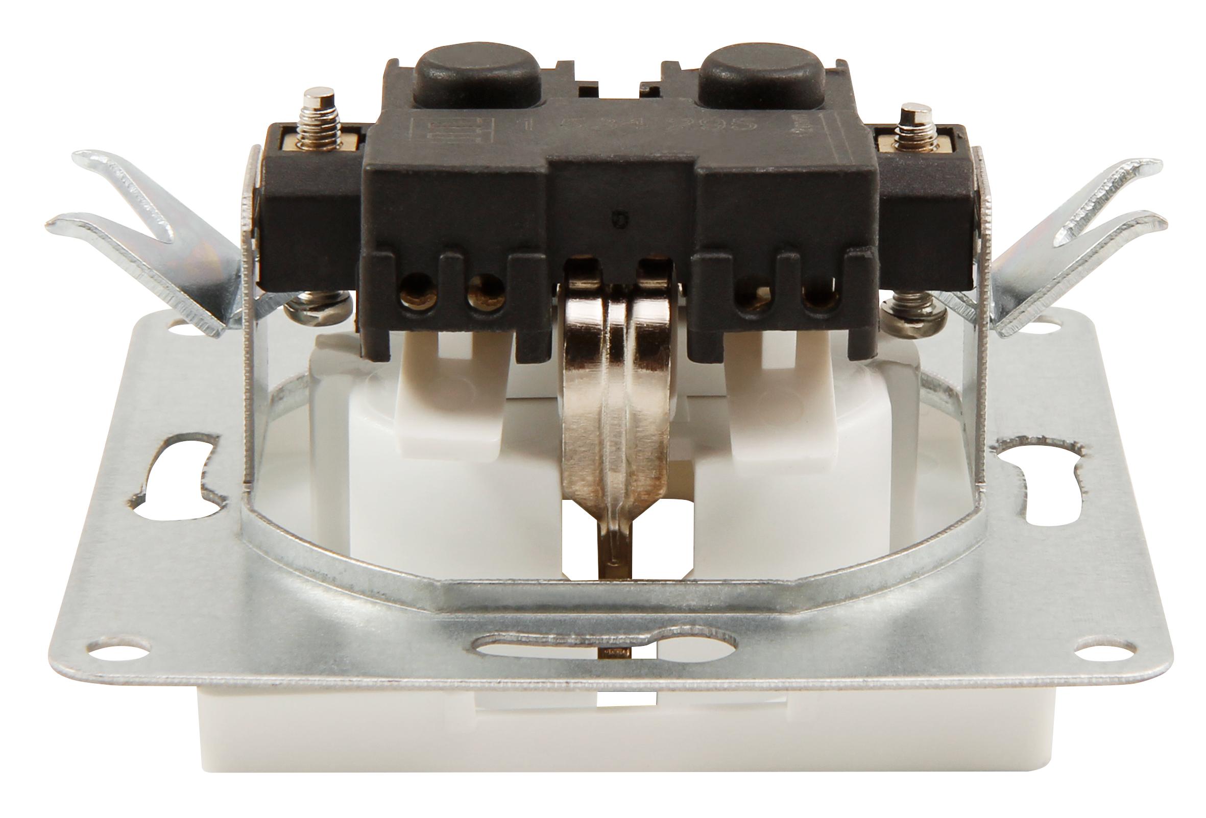 Schutzkontakt-Steckdose McPower ''Cup'' 250V~/16A, UP, Klemmanschluss, 18er-Pack