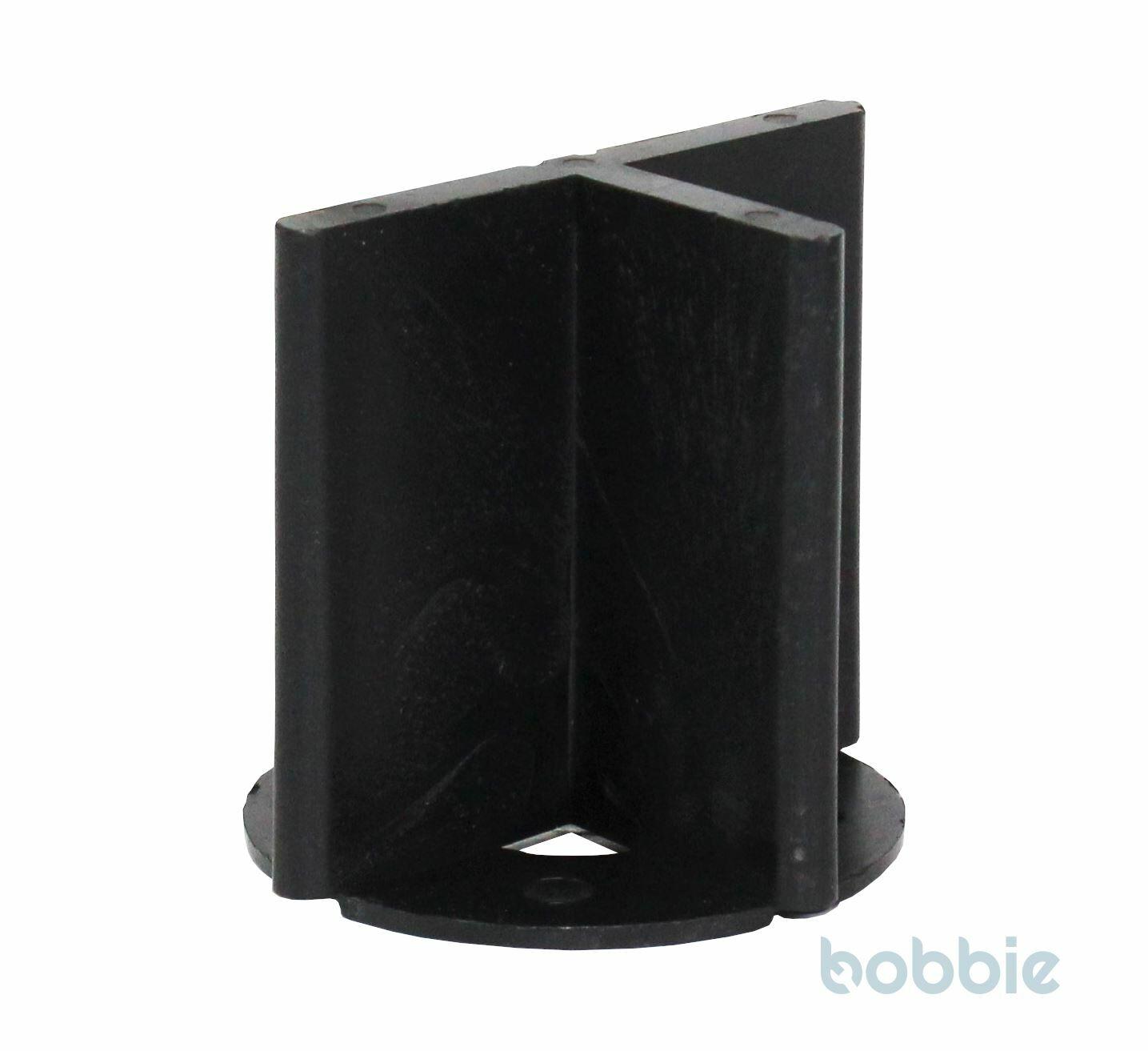 Fugen-T Kunst. m.Bodenplatt hoch schwarz