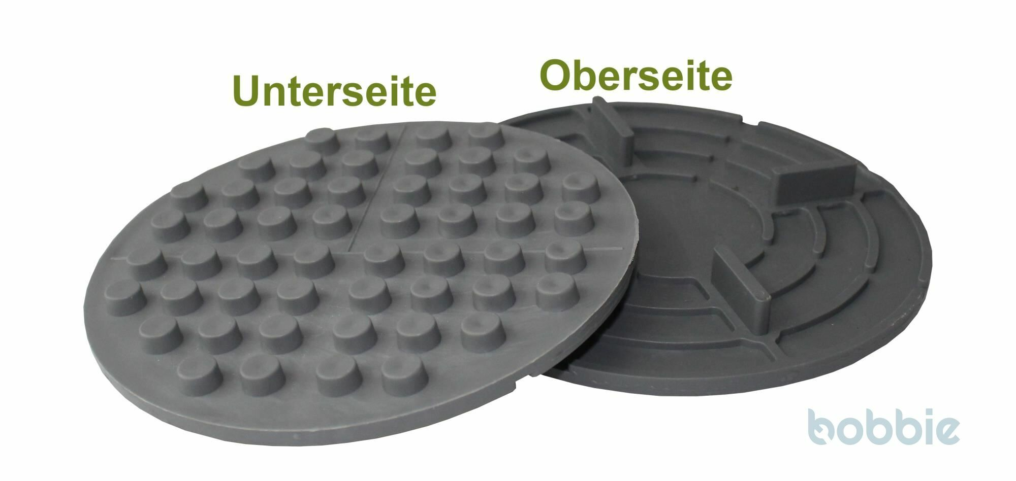 Platte gummierter Kunststoff m Noppen
