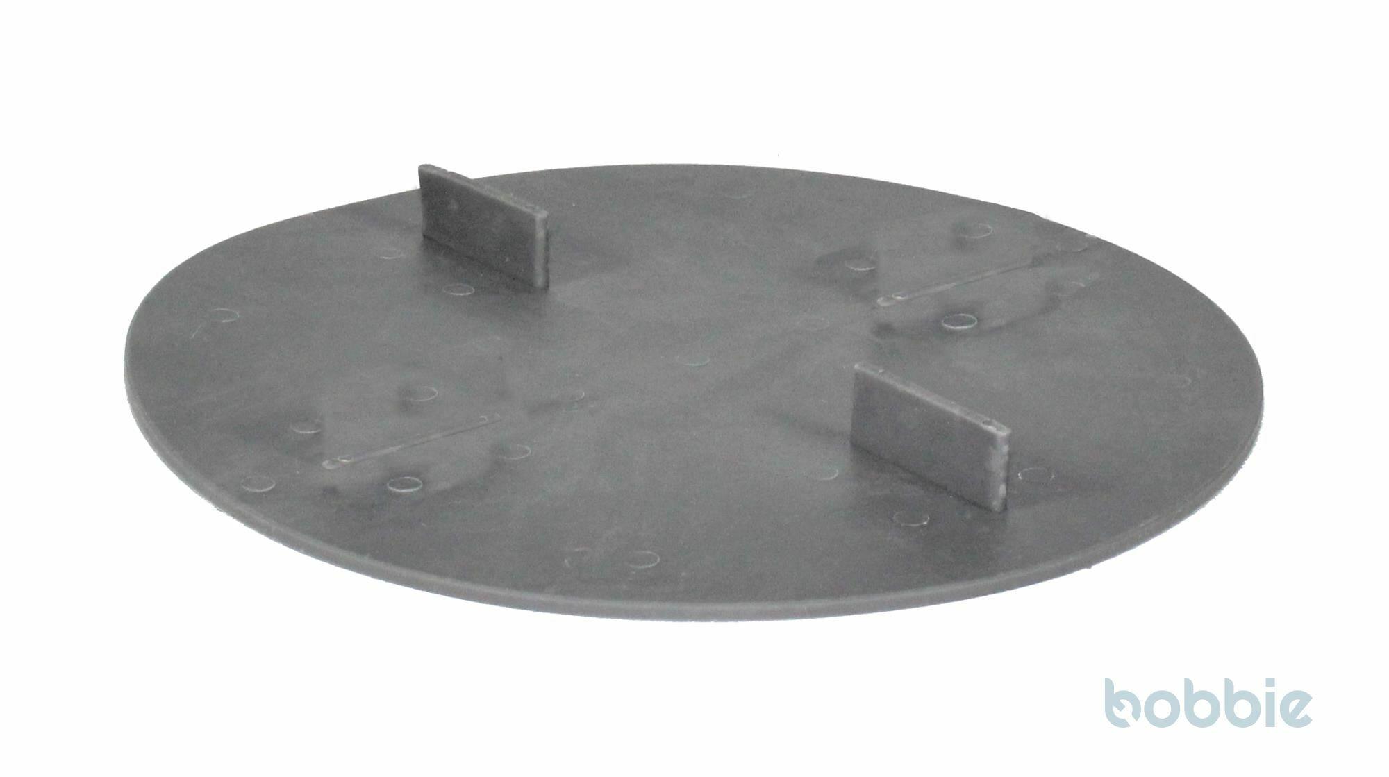 Scheibe gummierter Kunststoff 2mm Aufbau