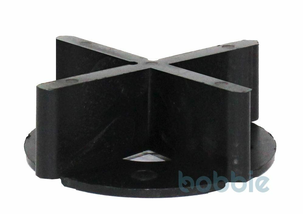 Fugenkreuz Kunstst. m.Bodenplatte schwarz