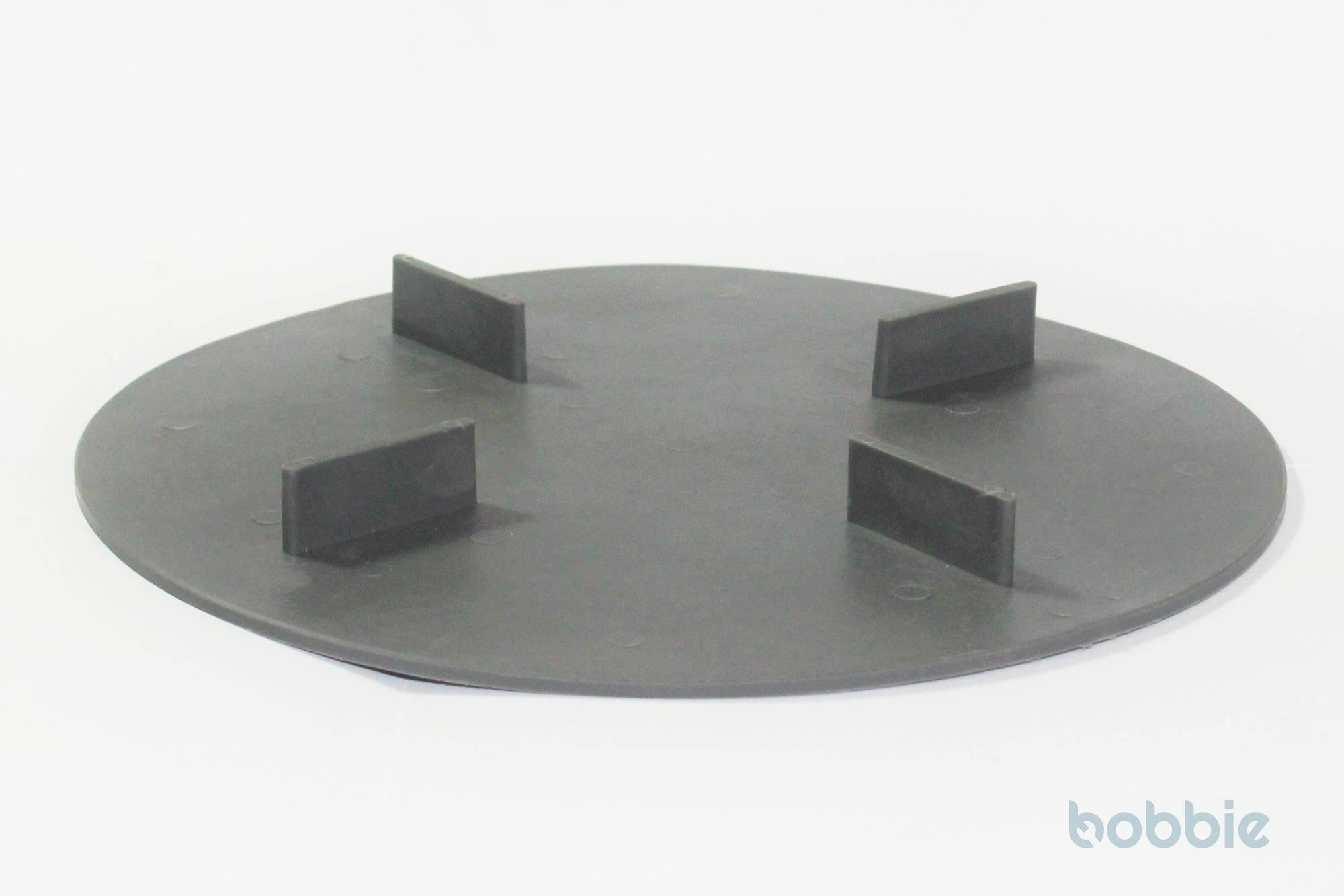 Scheibe gummiert, 2mm Aufbau