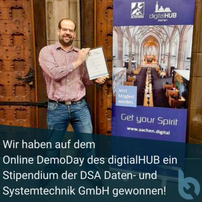bobbie gewinnt HUB-Stipendium im digitalHUB Incubator Programm