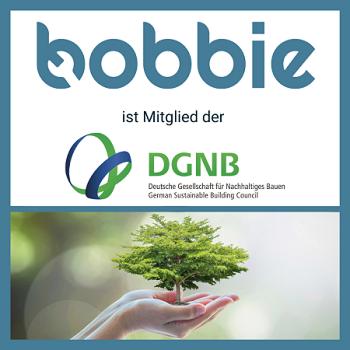 bobbie ist Mitglied der Deutschen Gesellschaft für Nachhaltiges Bauen!